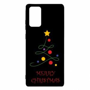 Etui na Samsung Note 20 Merry Christmas, christmas tree