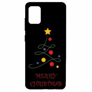 Etui na Samsung A51 Merry Christmas, christmas tree