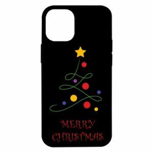 Etui na iPhone 12 Mini Merry Christmas, christmas tree