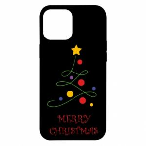 Etui na iPhone 12 Pro Max Merry Christmas, christmas tree