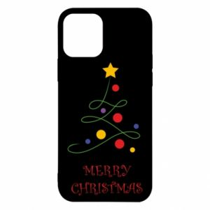 Etui na iPhone 12/12 Pro Merry Christmas, christmas tree
