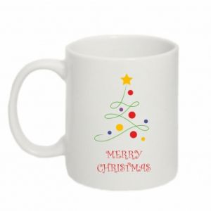 Mug 330ml Merry Christmas, christmas tree