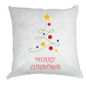 Pillow Merry Christmas, christmas tree