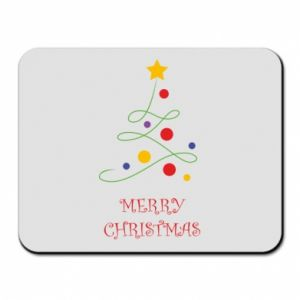 Mouse pad Merry Christmas, christmas tree
