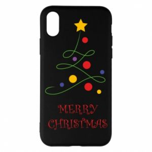 Phone case for iPhone X/Xs Merry Christmas, christmas tree