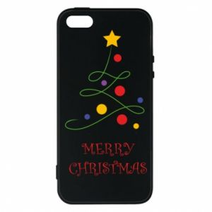 Phone case for iPhone 5/5S/SE Merry Christmas, christmas tree
