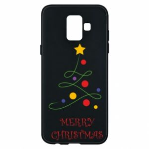Phone case for Samsung A6 2018 Merry Christmas, christmas tree