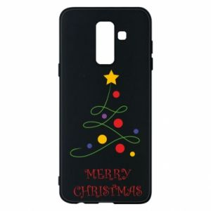 Phone case for Samsung A6+ 2018 Merry Christmas, christmas tree