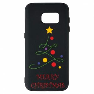 Phone case for Samsung S7 Merry Christmas, christmas tree