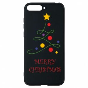Phone case for Huawei Y6 2018 Merry Christmas, christmas tree