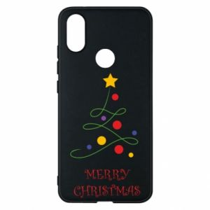 Phone case for Xiaomi Mi A2 Merry Christmas, christmas tree