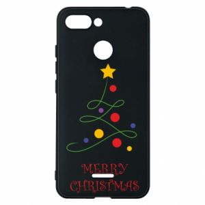 Phone case for Xiaomi Redmi 6 Merry Christmas, christmas tree