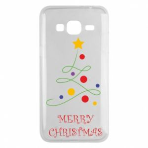 Phone case for Samsung J3 2016 Merry Christmas, christmas tree