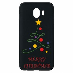 Phone case for Samsung J4 Merry Christmas, christmas tree