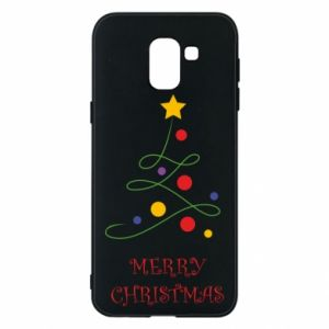 Phone case for Samsung J6 Merry Christmas, christmas tree