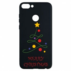 Phone case for Huawei P Smart Merry Christmas, christmas tree