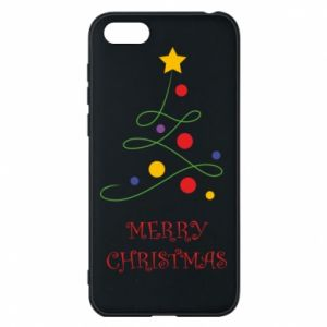 Phone case for Huawei Y5 2018 Merry Christmas, christmas tree