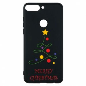 Phone case for Huawei Y7 Prime 2018 Merry Christmas, christmas tree