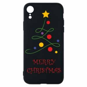 Phone case for iPhone XR Merry Christmas, christmas tree