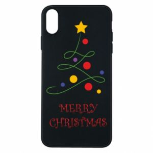 Phone case for iPhone Xs Max Merry Christmas, christmas tree