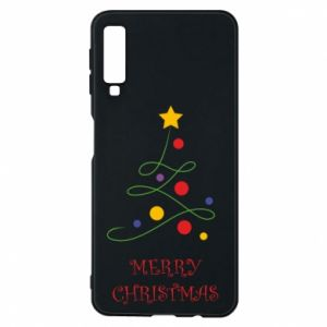 Phone case for Samsung A7 2018 Merry Christmas, christmas tree