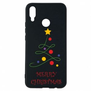 Phone case for Huawei P Smart Plus Merry Christmas, christmas tree