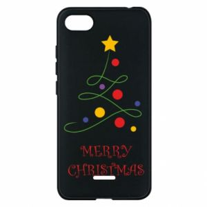 Phone case for Xiaomi Redmi 6A Merry Christmas, christmas tree