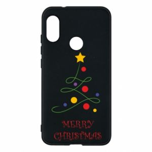 Phone case for Mi A2 Lite Merry Christmas, christmas tree