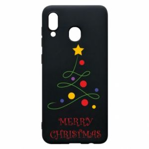 Phone case for Samsung A20 Merry Christmas, christmas tree