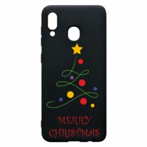 Phone case for Samsung A30 Merry Christmas, christmas tree