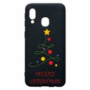 Phone case for Samsung A40 Merry Christmas, christmas tree