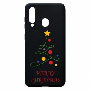 Phone case for Samsung A60 Merry Christmas, christmas tree