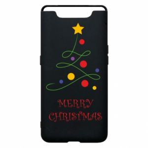 Phone case for Samsung A80 Merry Christmas, christmas tree