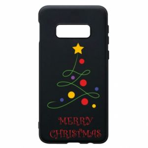 Phone case for Samsung S10e Merry Christmas, christmas tree