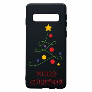 Phone case for Samsung S10 Merry Christmas, christmas tree