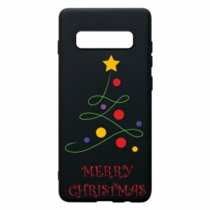 Phone case for Samsung S10+ Merry Christmas, christmas tree