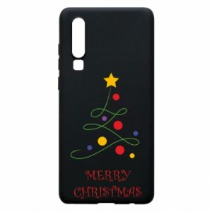 Phone case for Huawei P30 Merry Christmas, christmas tree