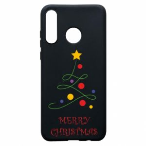 Phone case for Huawei P30 Lite Merry Christmas, christmas tree