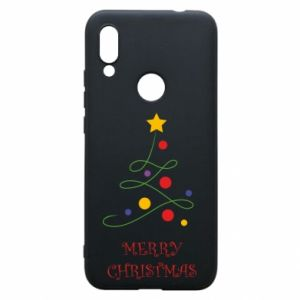 Phone case for Xiaomi Redmi 7 Merry Christmas, christmas tree