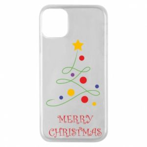 Phone case for iPhone 11 Pro Merry Christmas, christmas tree
