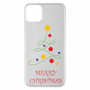 Phone case for iPhone 11 Pro Max Merry Christmas, christmas tree