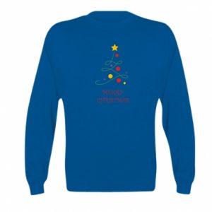 Kid's sweatshirt Merry Christmas, christmas tree