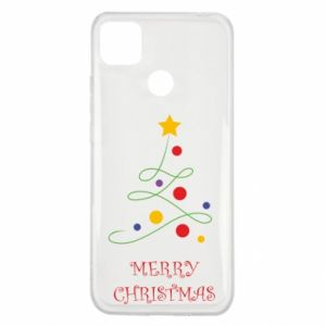 Xiaomi Redmi 9c Case Merry Christmas, christmas tree