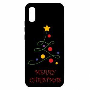 Xiaomi Redmi 9a Case Merry Christmas, christmas tree