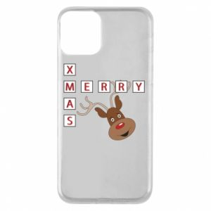 Phone case for iPhone 11 Merry Xmas Moose