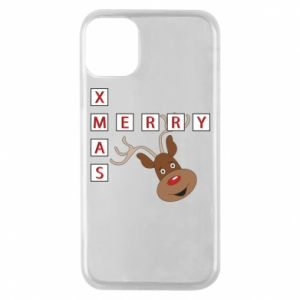 Phone case for iPhone 11 Pro Merry Xmas Moose