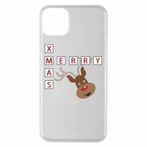 Phone case for iPhone 11 Pro Max Merry Xmas Moose