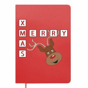 Notepad Merry Xmas Moose