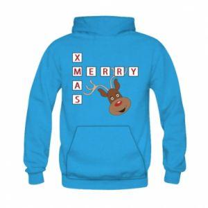 Bluza z kapturem dziecięca Merry Xmas Moose