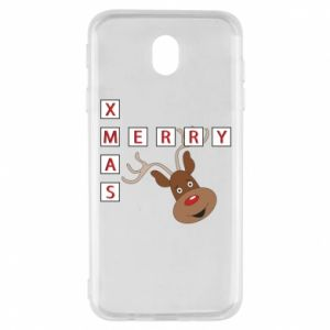 Etui na Samsung J7 2017 Merry Xmas Moose